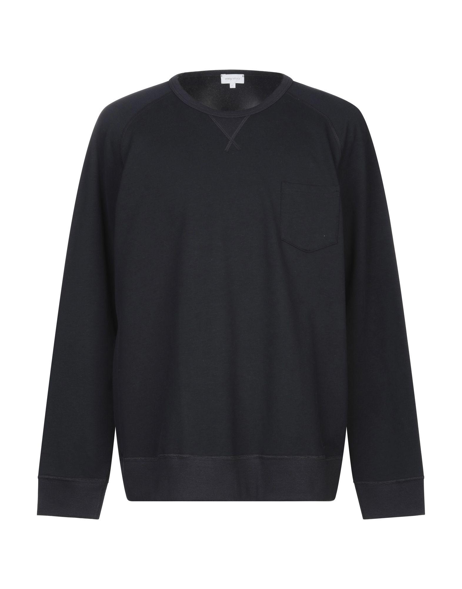 《セール開催中》MEY STORY メンズ スウェットシャツ ダークブルー XL コットン 48% / テンセル 48% / ポリウレタン 4%