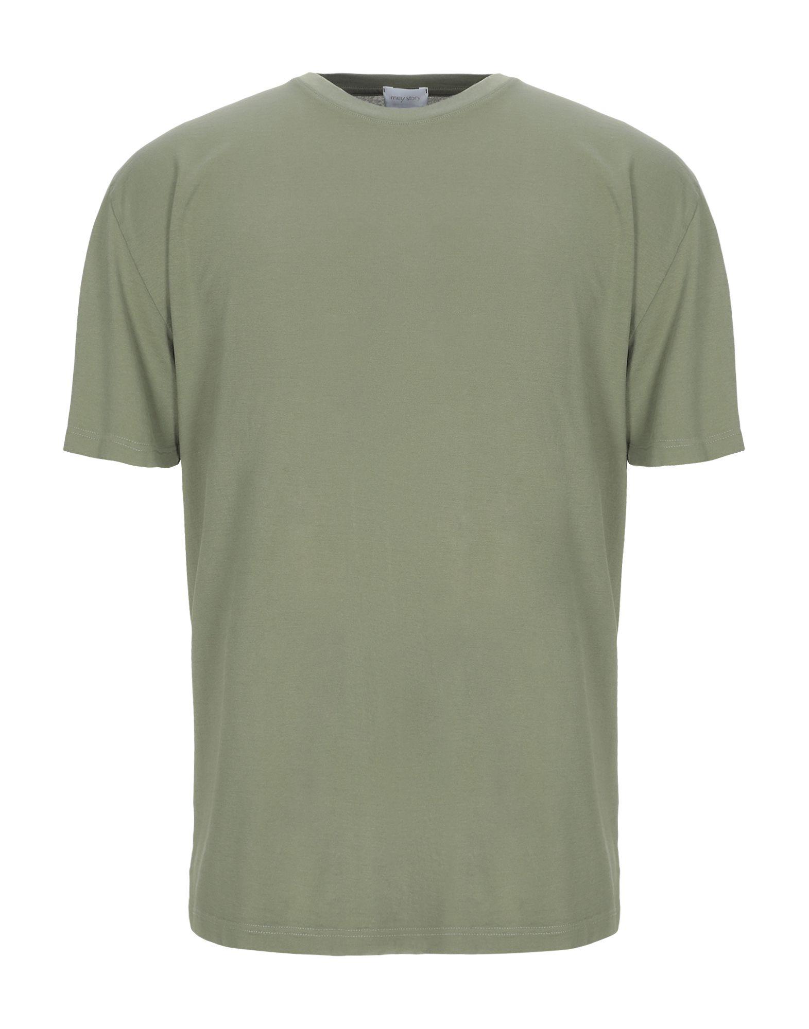 《セール開催中》MEY STORY メンズ T シャツ ミリタリーグリーン XL コットン 100%