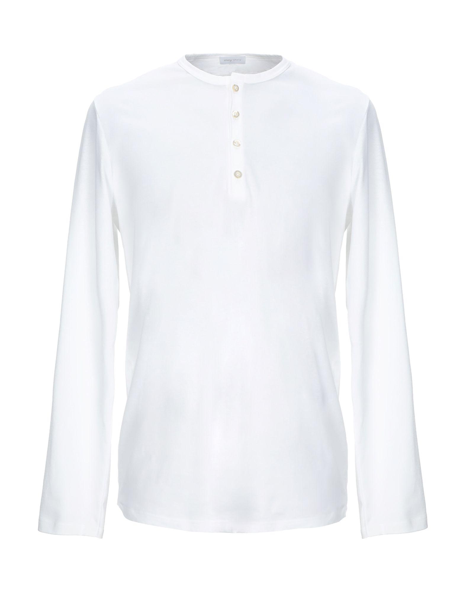 《セール開催中》MEY STORY メンズ T シャツ ホワイト S コットン 100%