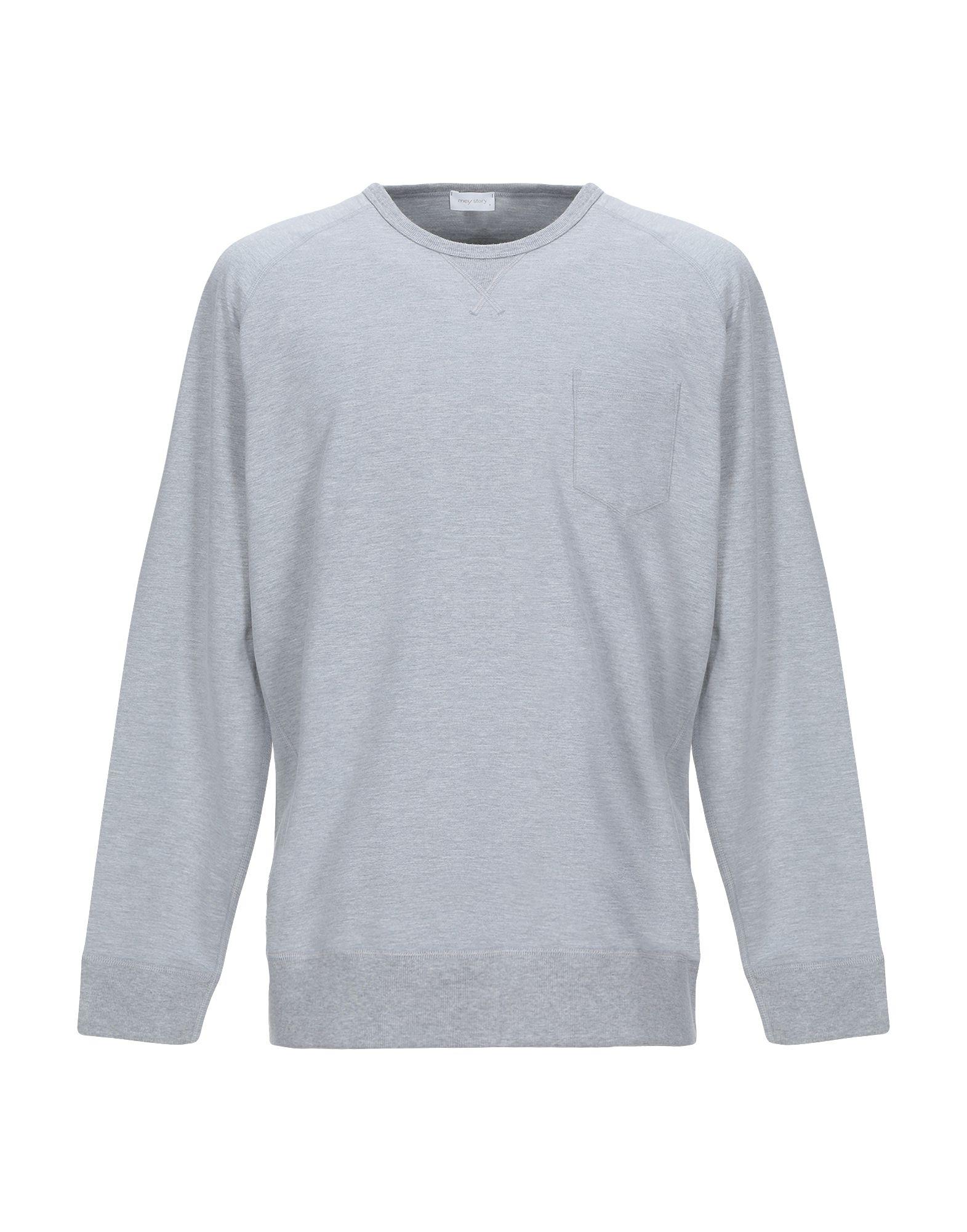 《セール開催中》MEY STORY メンズ スウェットシャツ ライトグレー S コットン 48% / テンセル 48% / ポリウレタン 4%