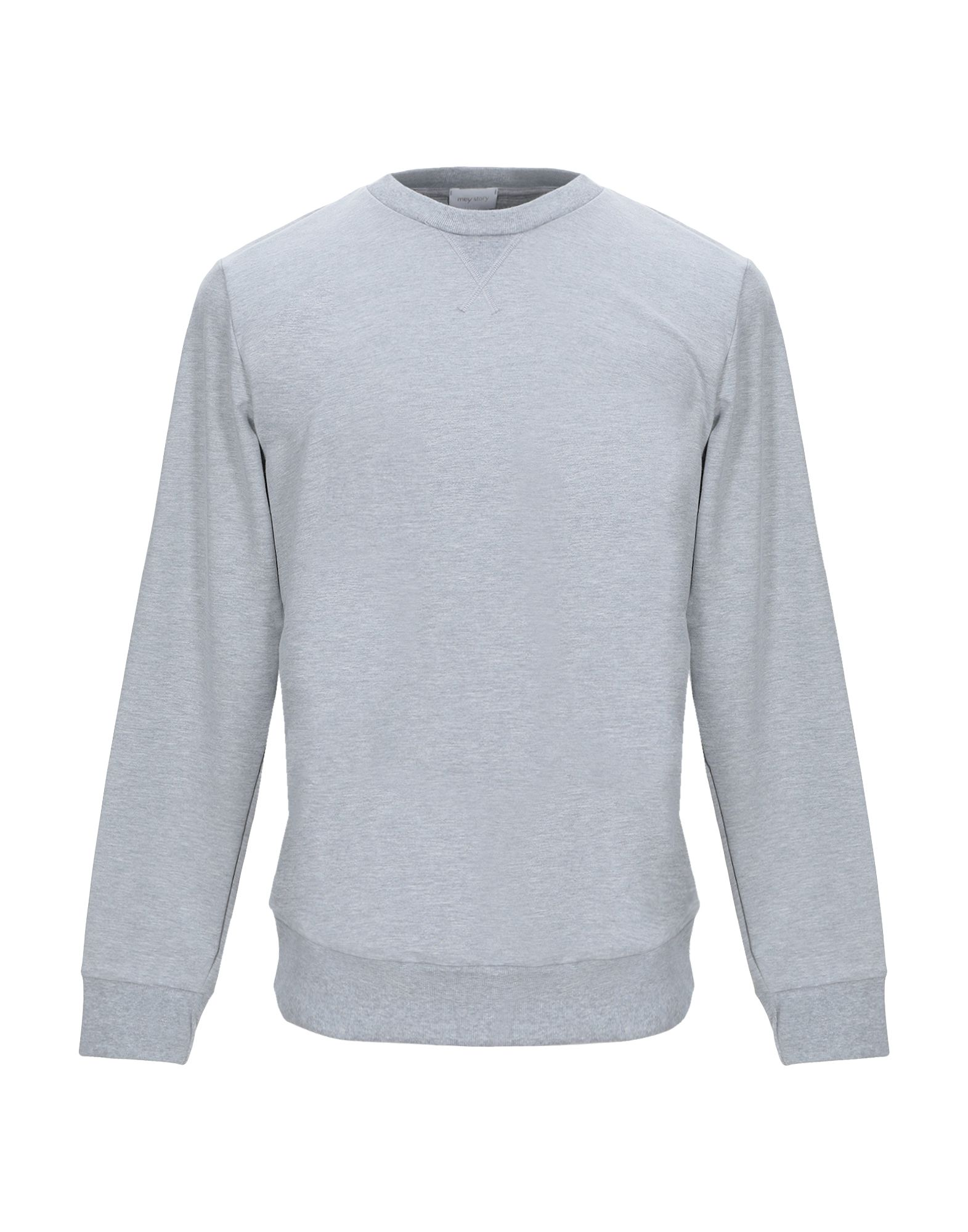 《セール開催中》MEY STORY メンズ スウェットシャツ ライトグレー L コットン 48% / テンセル 48% / ポリウレタン 4%