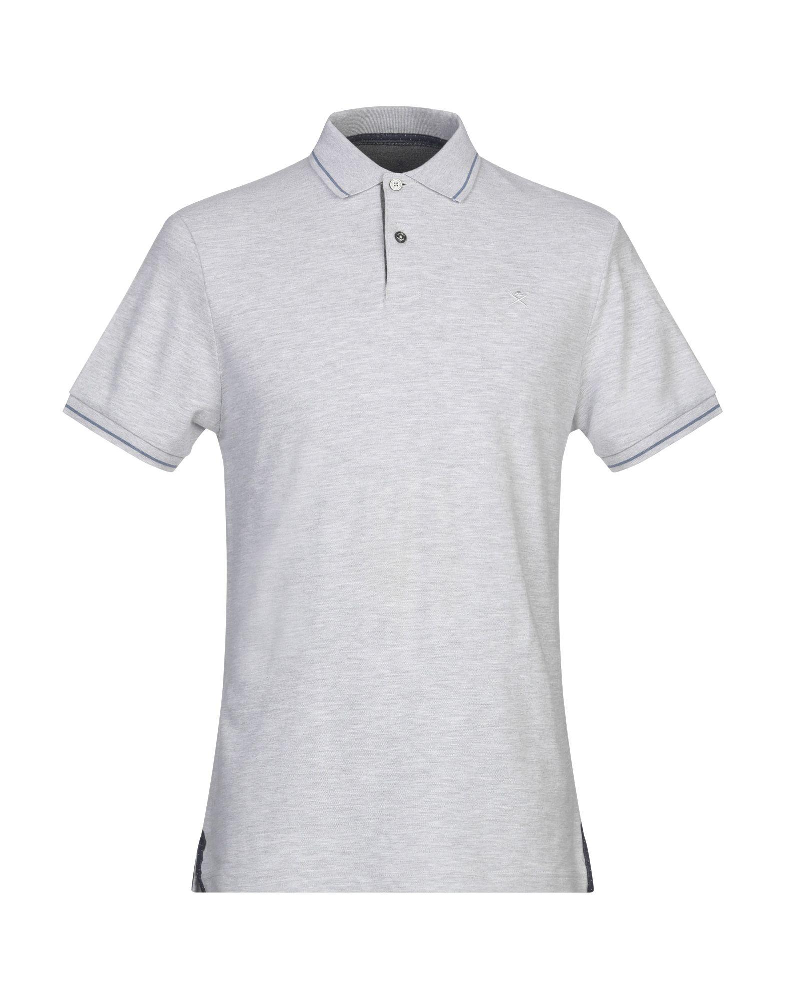 《セール開催中》HACKETT メンズ ポロシャツ ライトグレー S コットン 95% / ポリウレタン 5%