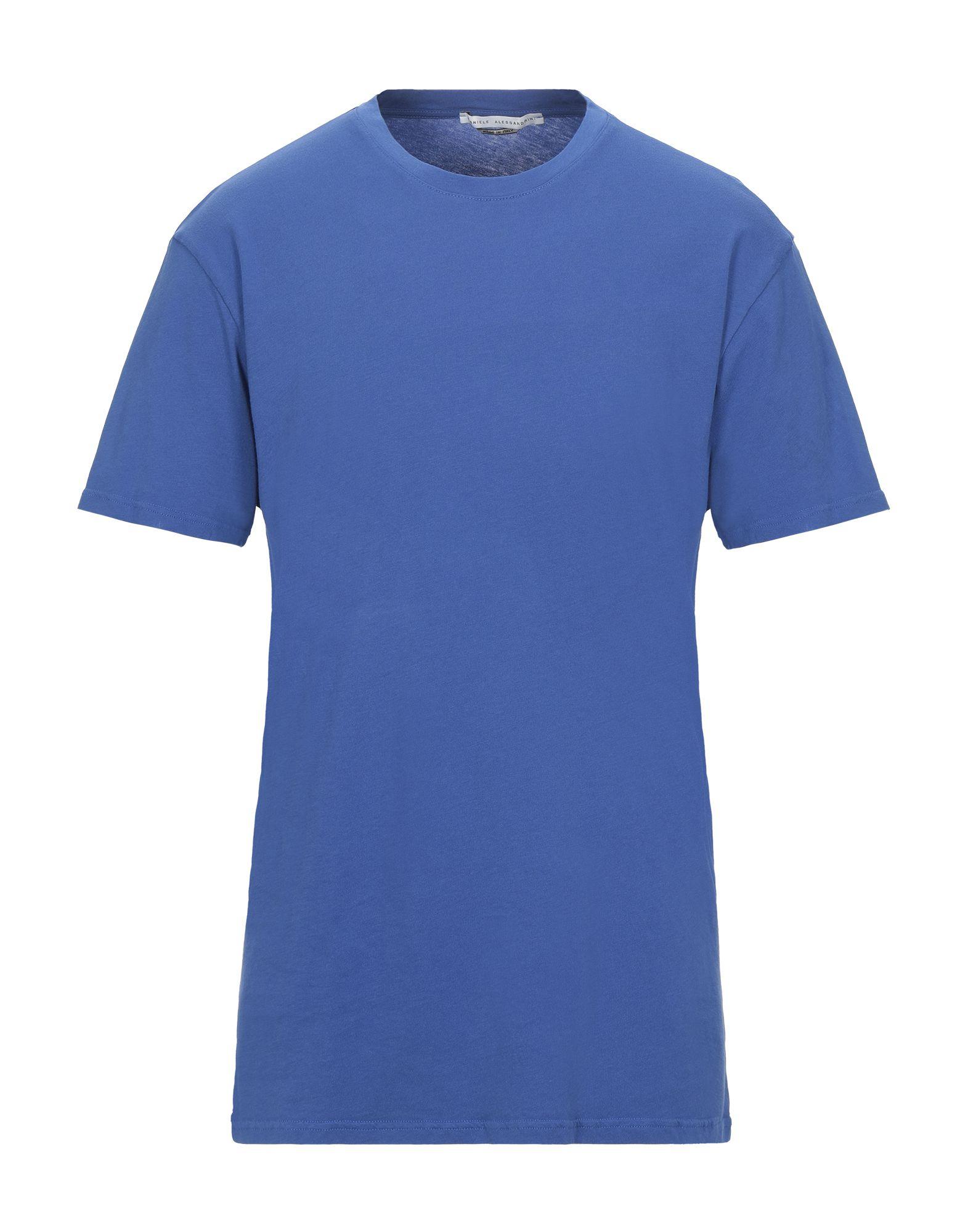 《セール開催中》DANIELE ALESSANDRINI メンズ T シャツ ブライトブルー S コットン 100%
