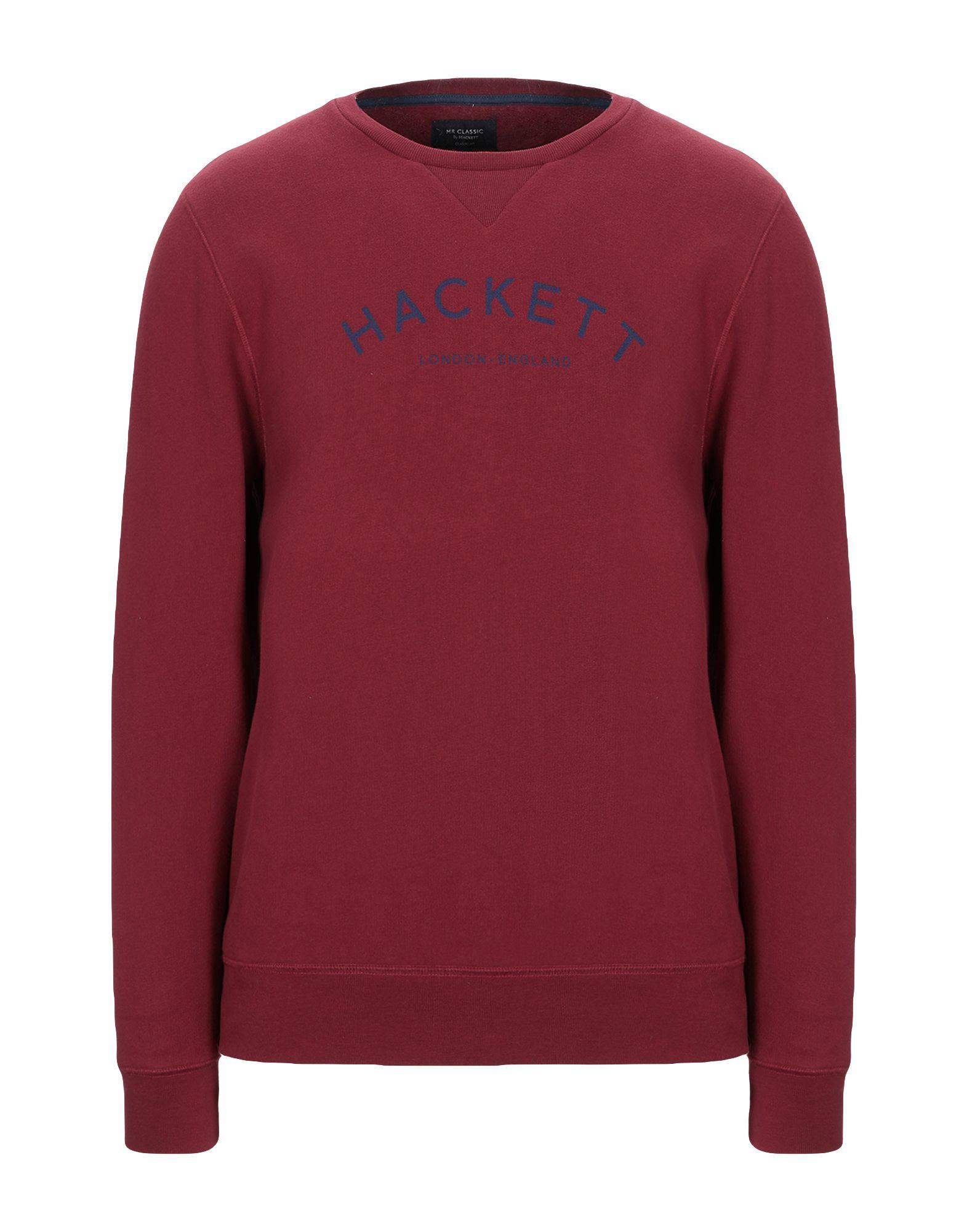 《セール開催中》HACKETT メンズ スウェットシャツ ボルドー M コットン 50% / ポリエステル 50%