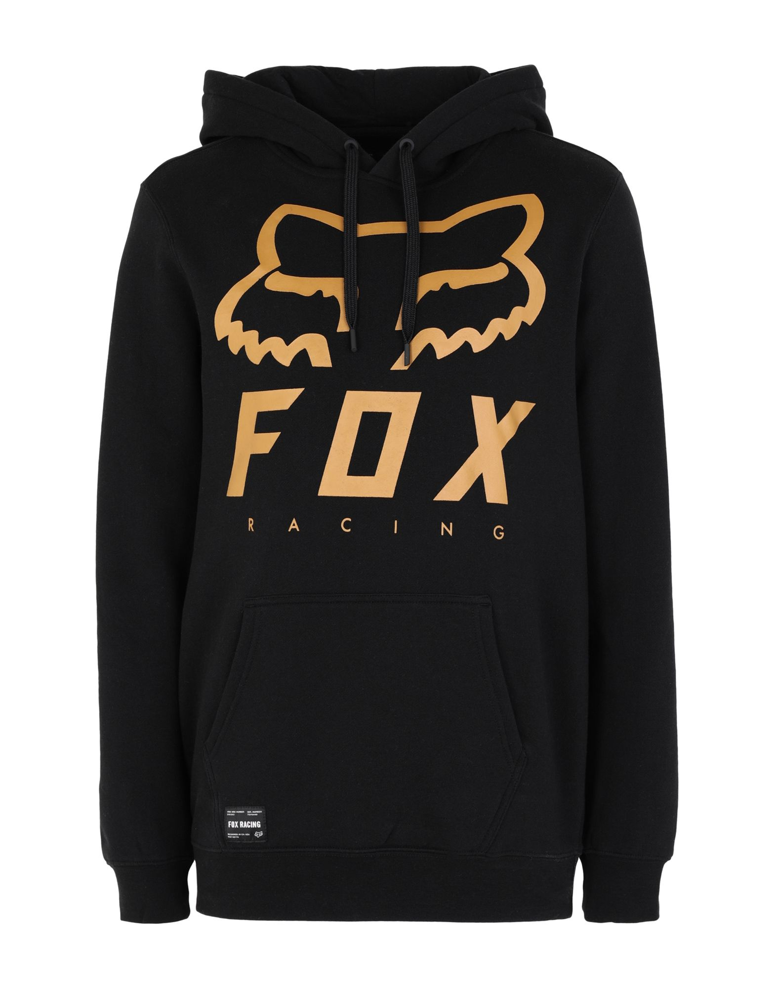《セール開催中》FOX RACING メンズ スウェットシャツ ブラック L コットン 80% / ポリエステル 20% FX Heritage Forger Pofleece