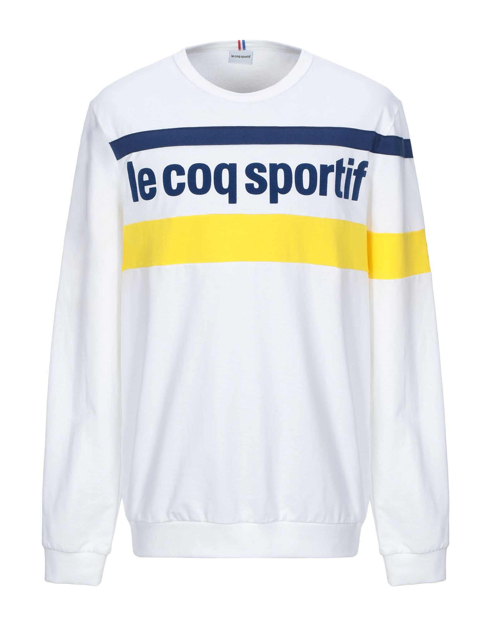 《セール開催中》LE COQ SPORTIF メンズ スウェットシャツ ホワイト XL コットン 100%