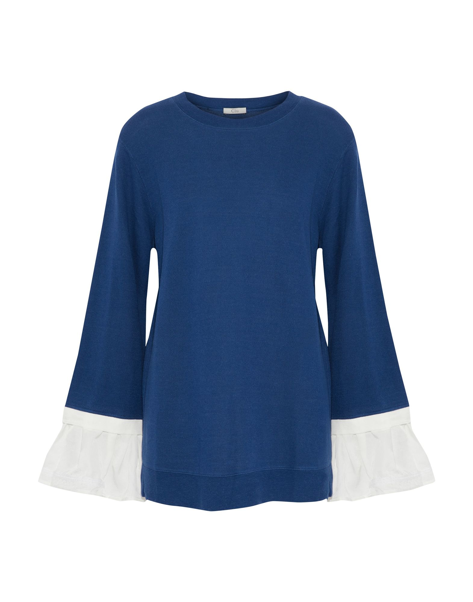 《期間限定セール開催中!》CLU レディース スウェットシャツ ブルー XS レーヨン 51% / コットン 36% / 麻 13%