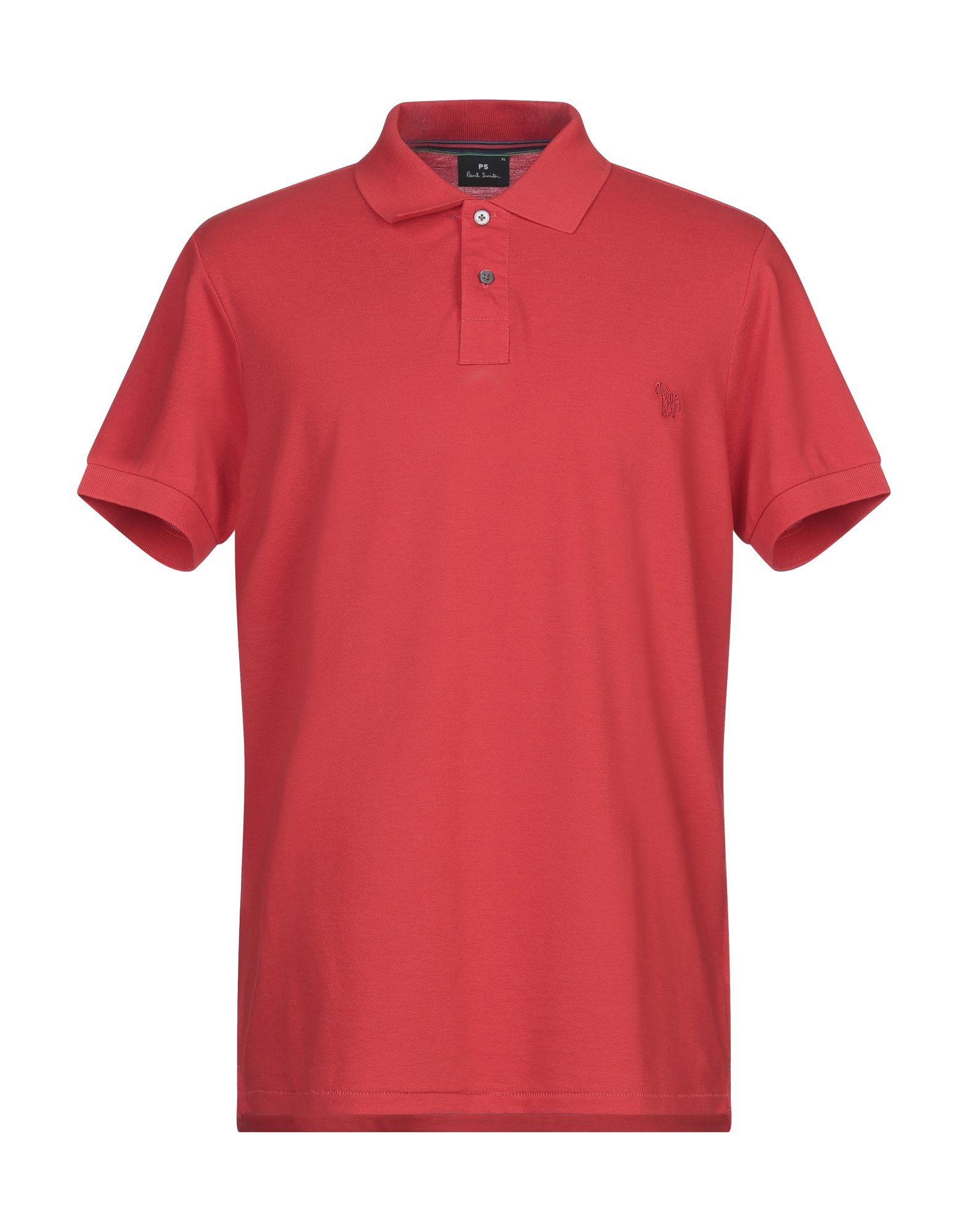 《セール開催中》PS PAUL SMITH メンズ ポロシャツ レッド S コットン 100%