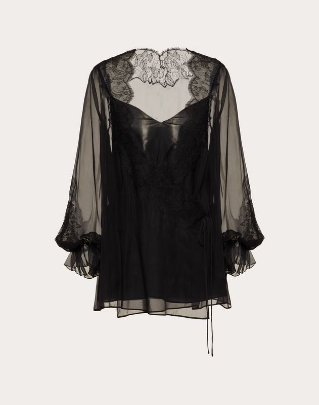 Chiffon and Lace Top