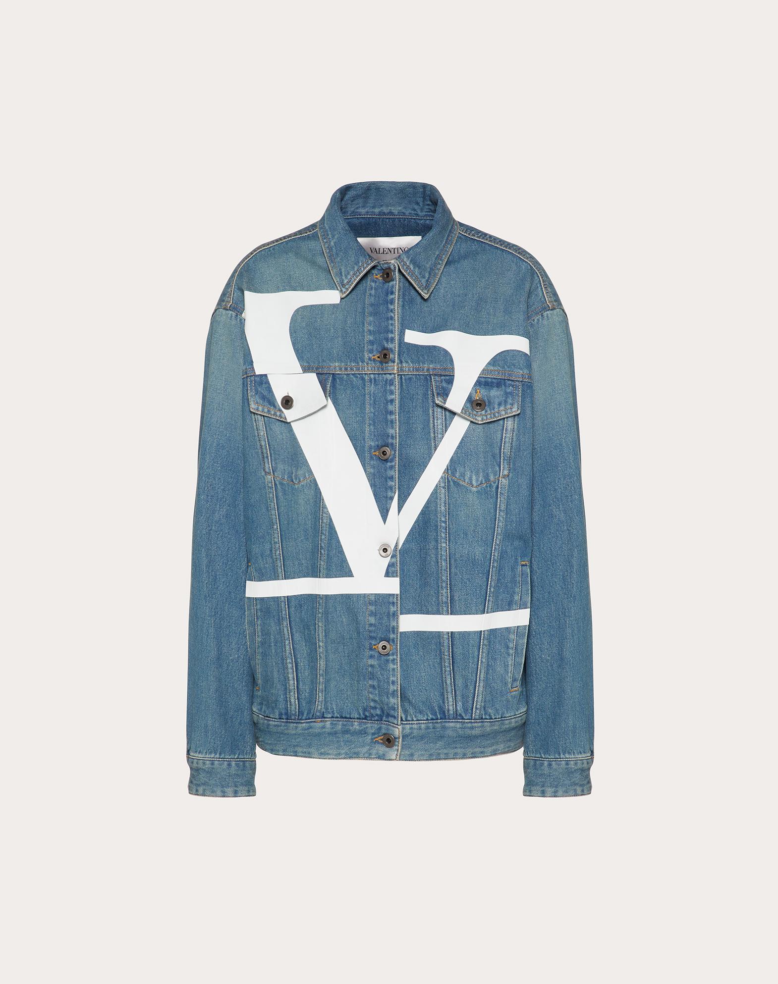 Deconstructed VLOGO Blue Denim Jacket