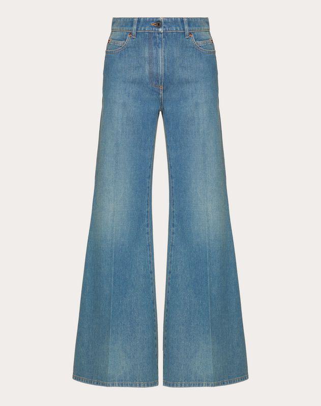 Jeans VLOGO aus blauem Denim