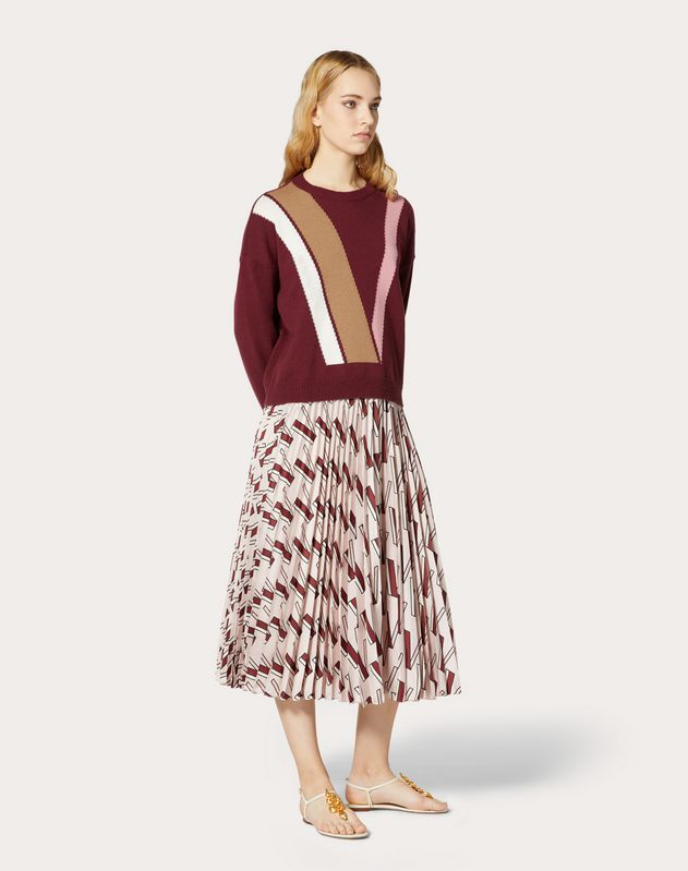 Inlaid Cashmere Sweater