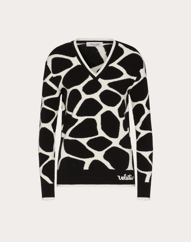 Inlaid Wool Jumper
