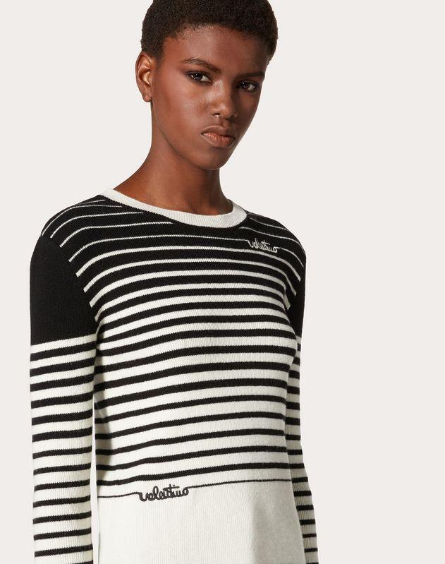 Pull en laine et cachemire Stripes Dégradé Valentino Signature