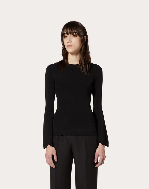 Scallop Viscose Jumper