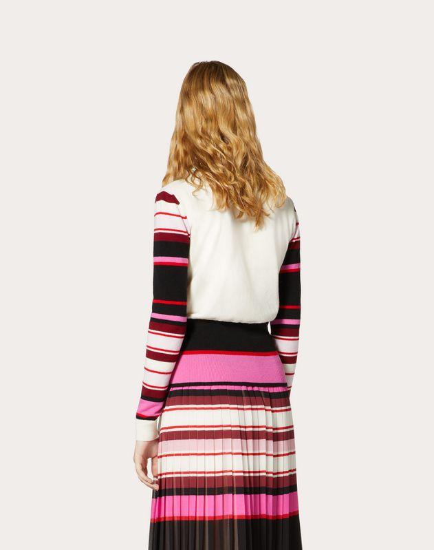 Pull jacquard en laine et cachemire