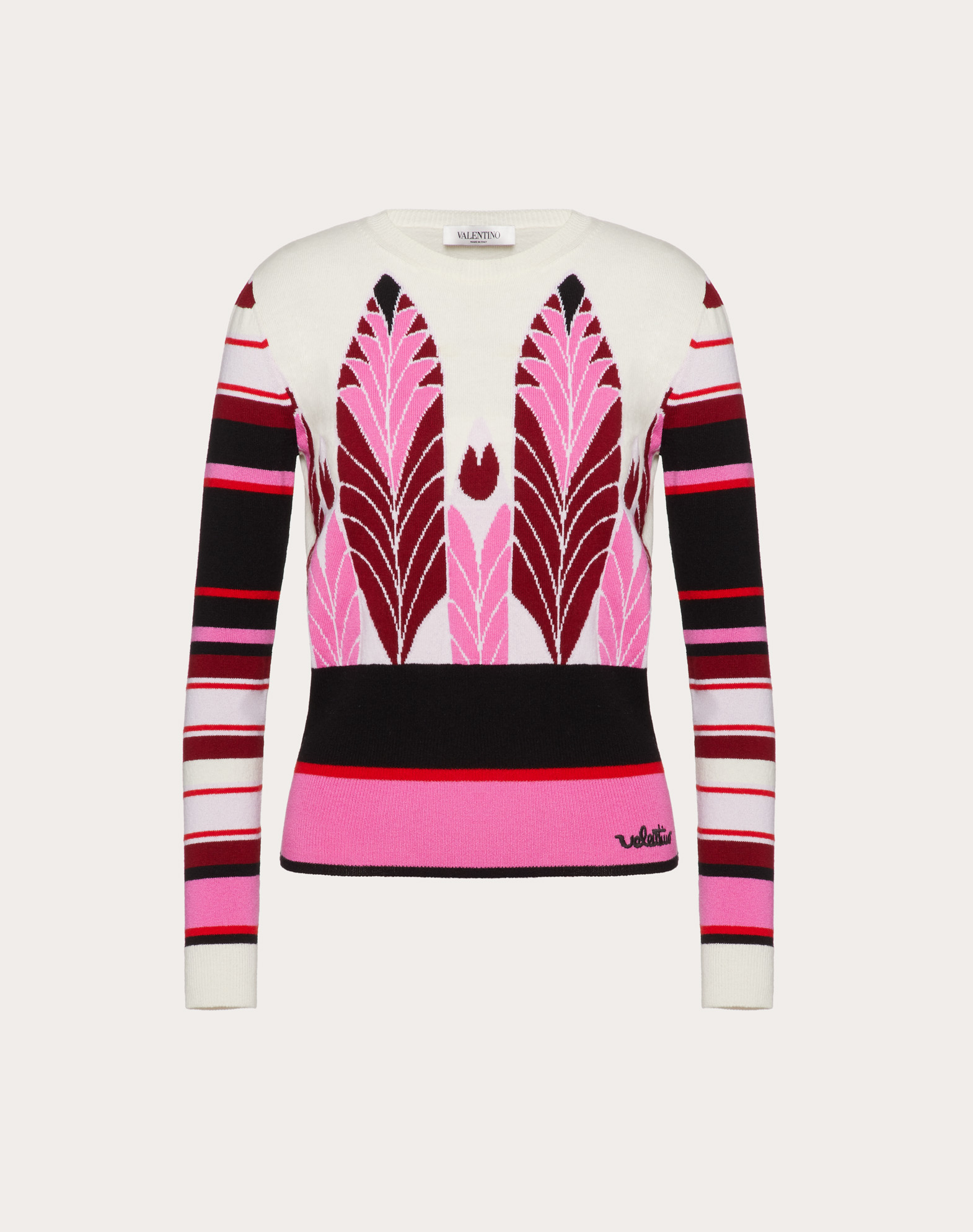 Cashmere Wool Jacquard Sweater