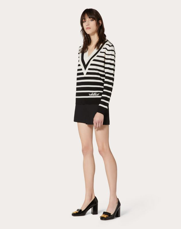 Valentino Signature Degradé Stripe Wool Jumper