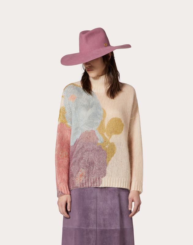 Printed Mohair Sweater