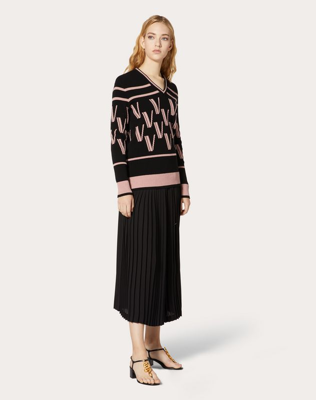 Cashmere Wool Jacquard Sweater