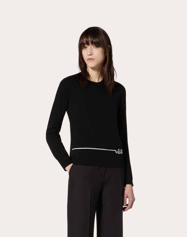 Valentino Signature Cashmere Wool Sweater