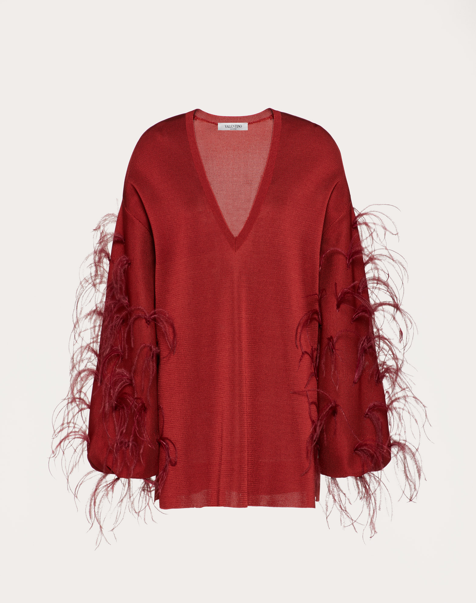 Viscose Sweater with Feathers