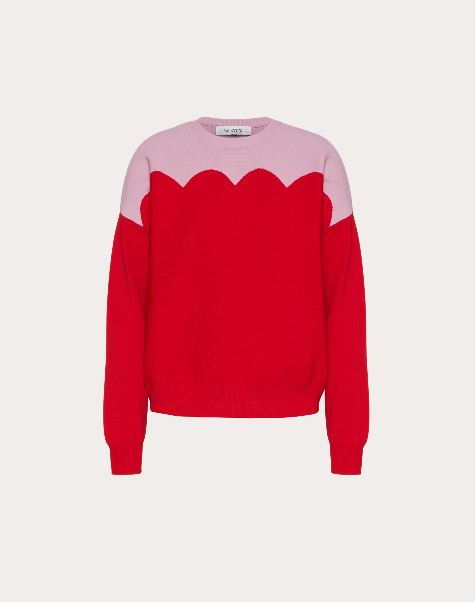 Scallop Stretch-Viscose Sweater