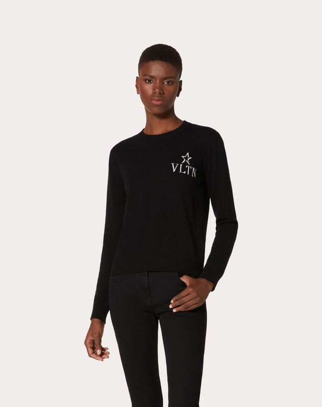 VLTNSTAR Inlaid Wool Cashmere Sweater