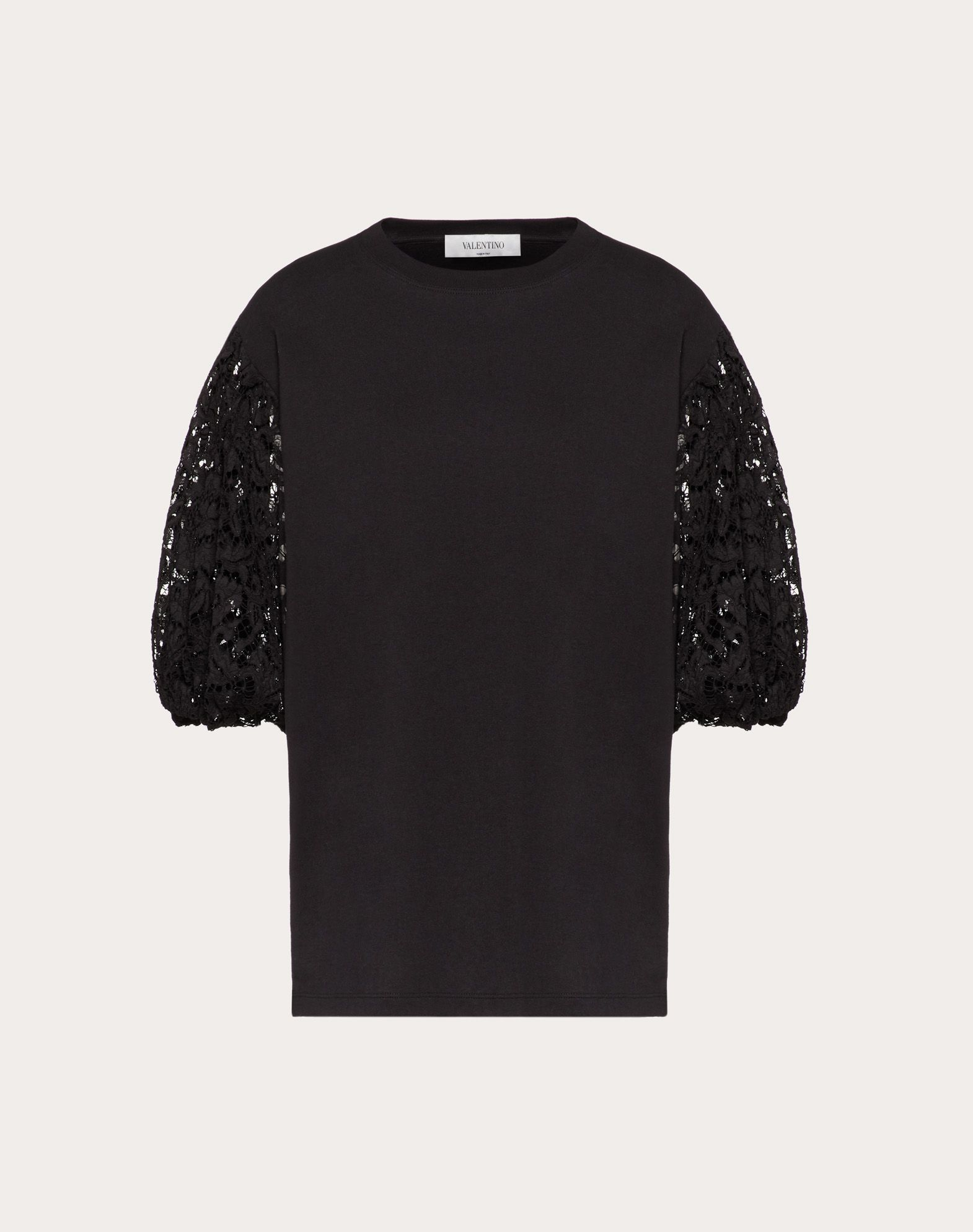 T-shirt in Jersey ed Heavy Lace