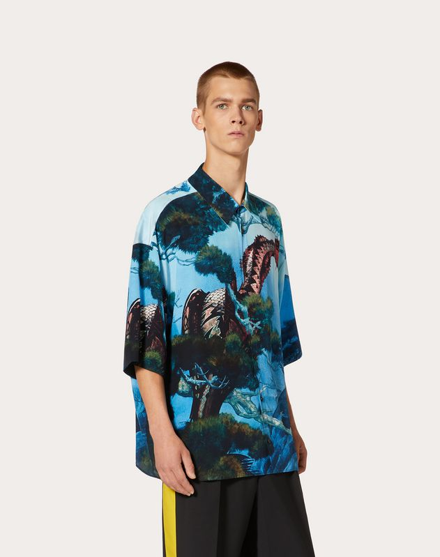 DRAGONS GARDEN SILK SHIRT