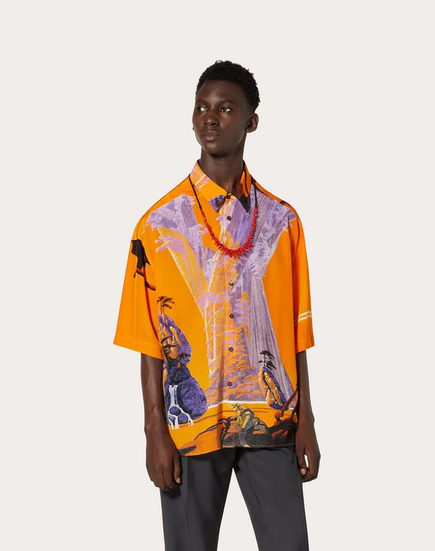 YELLOW CITY SILK SHIRT