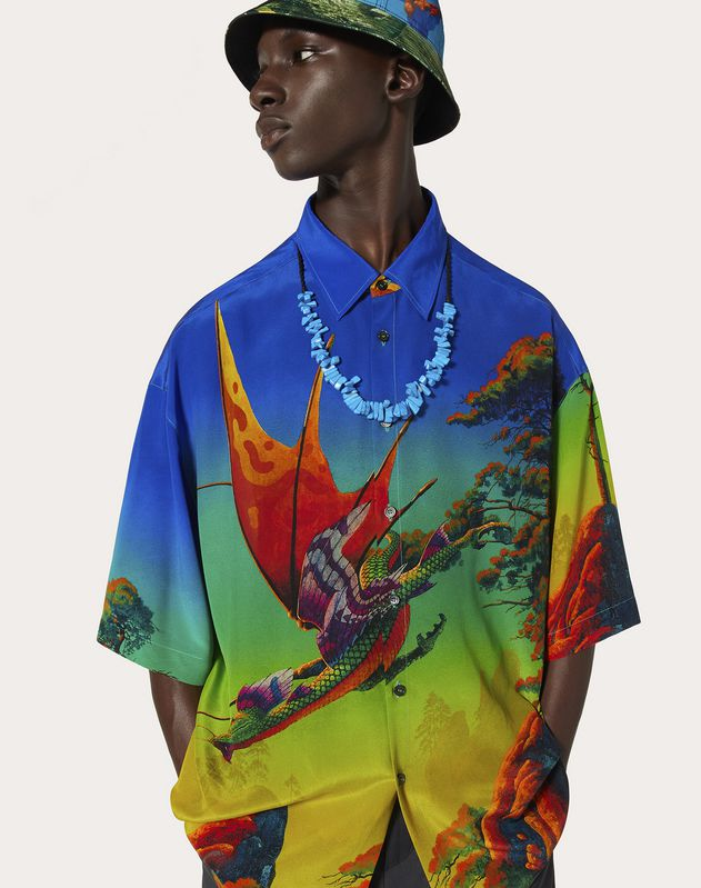 DRAGON AT DAWN SILK SHIRT