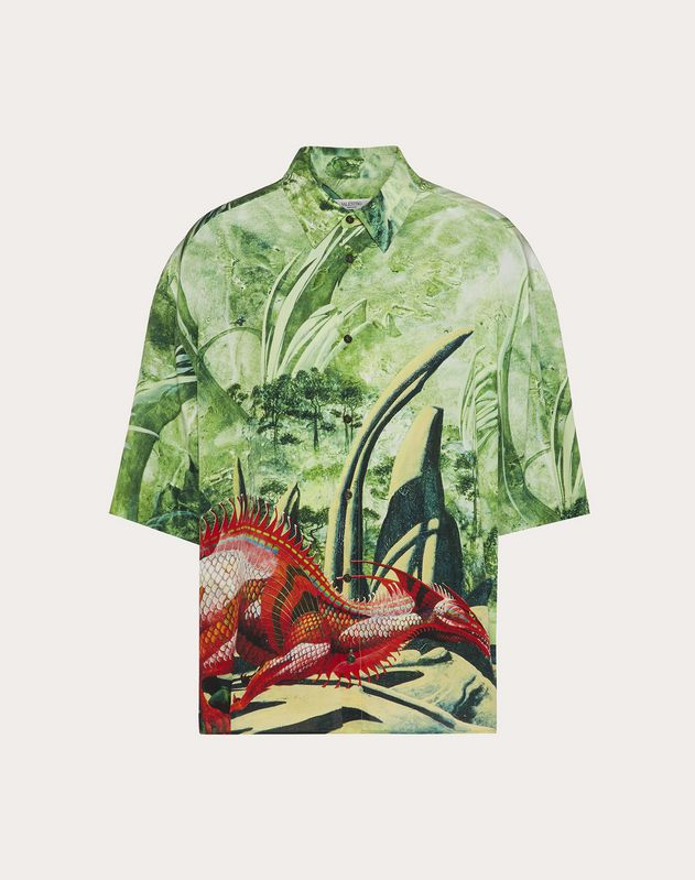 RED DRAGON SILK SHIRT