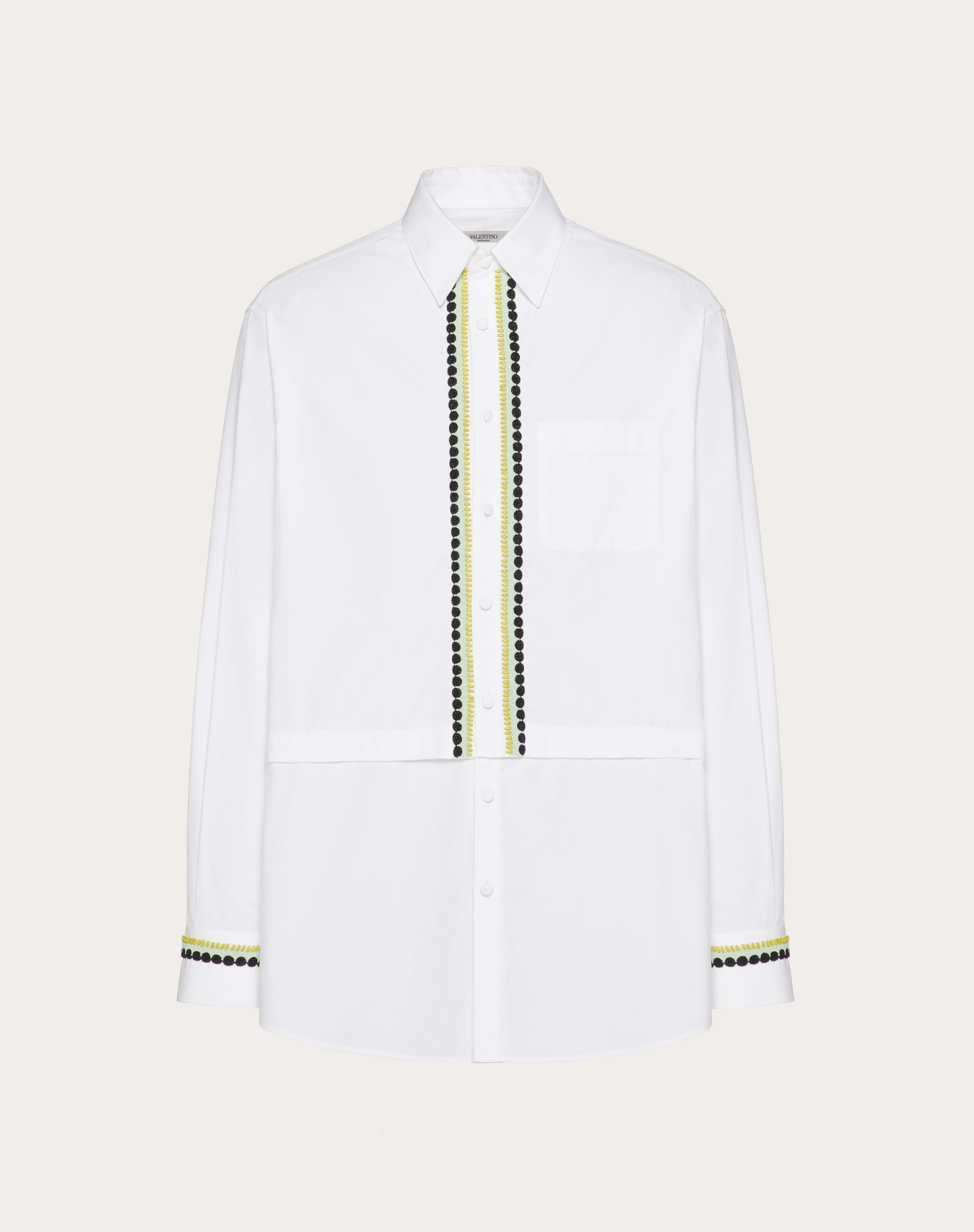 SEMI-OVERSIZE SHIRT WITH DECORATIVE EMBROIDERY