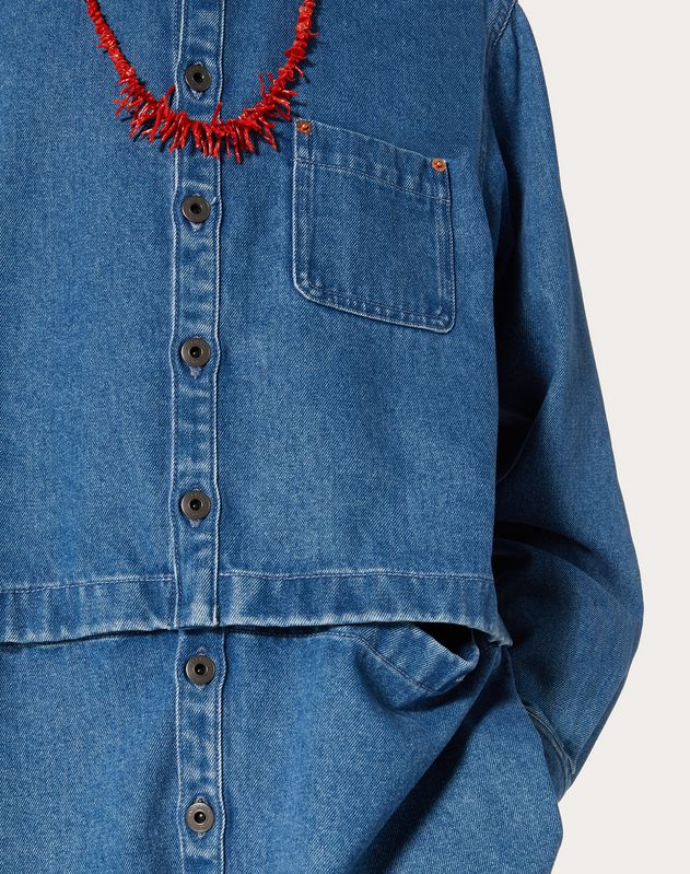 SEMI-OVERSIZE DENIM SHIRT