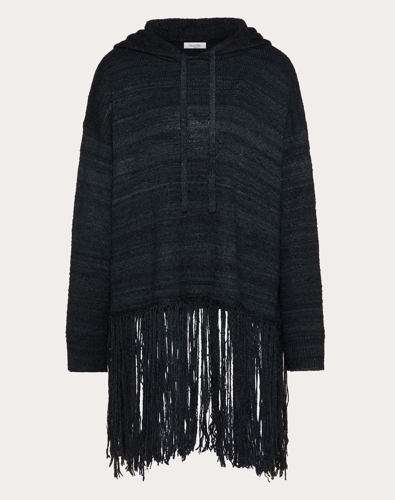 FRINGED SILK SWEATER