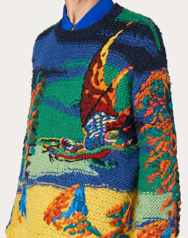 DRAGON AT DAWN SILK SWEATER