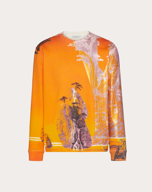 YELLOW CITY PRINT SWEATSHIRT