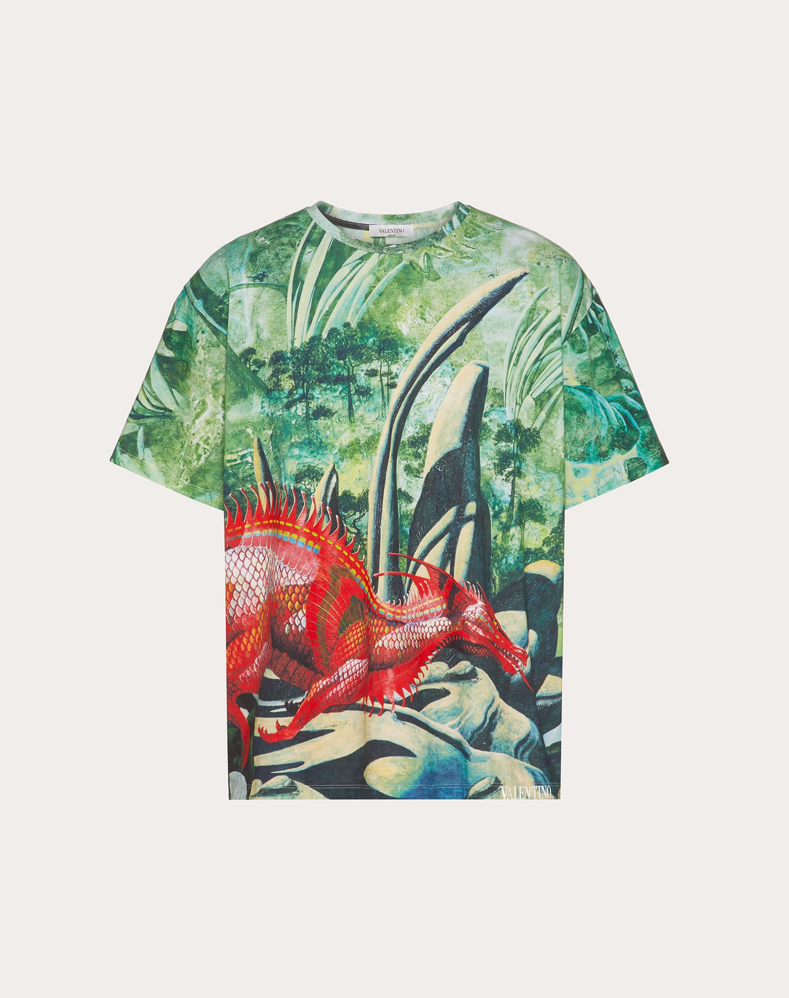 T-SHIRT ALL OVER RED DRAGON