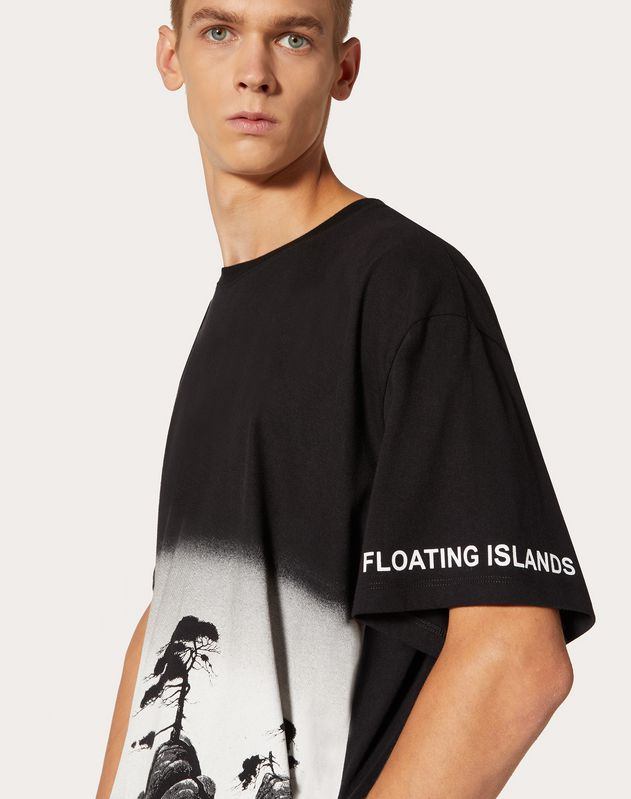 FLOATING ISLAND PRINT T-SHIRT