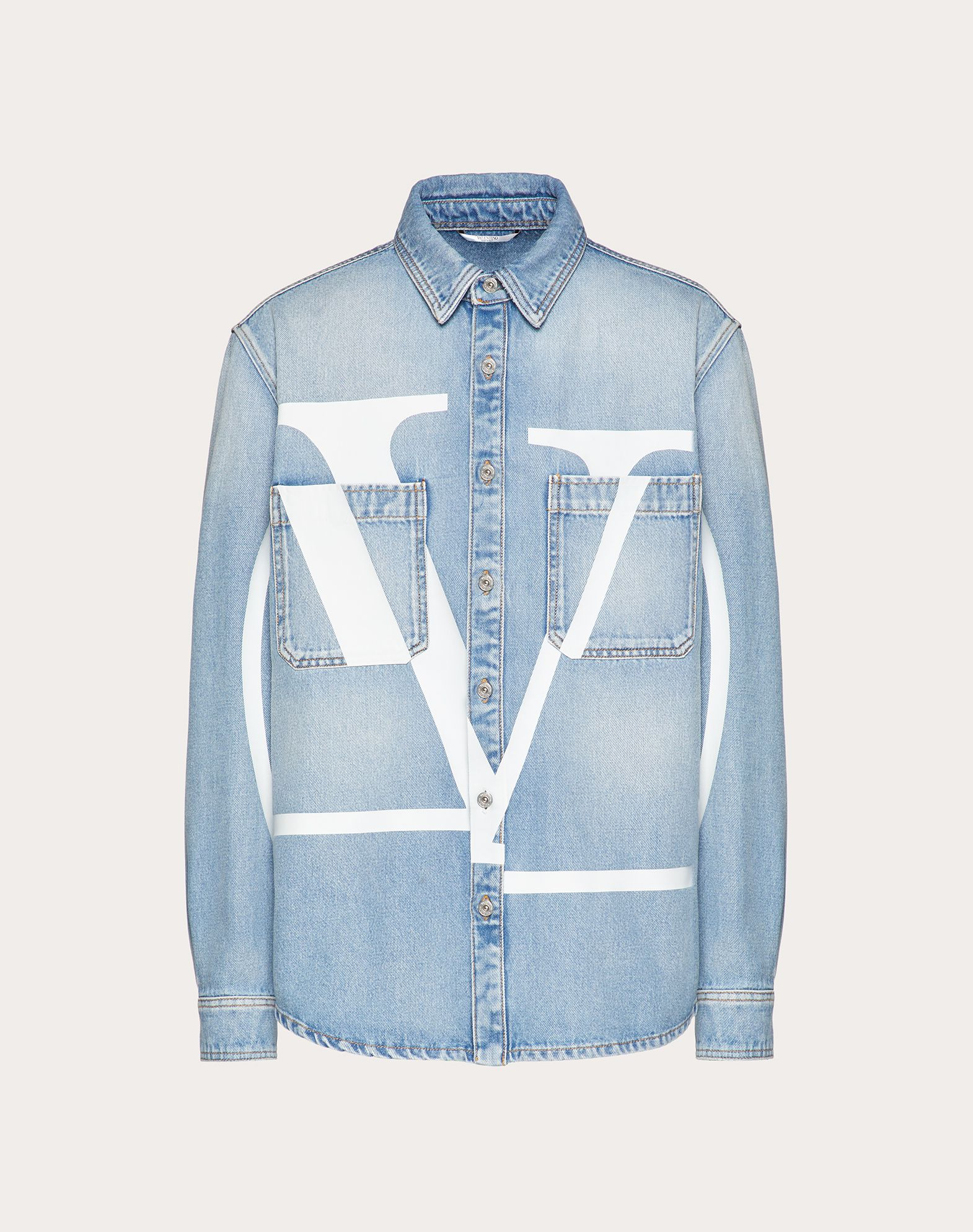VLOGO DENIM SHIRT
