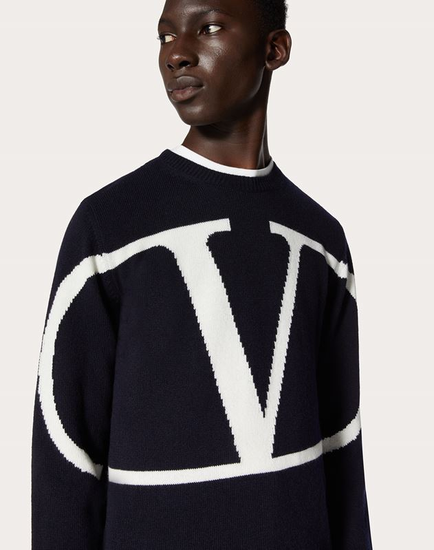 VLOGO CREW-NECK SWEATER