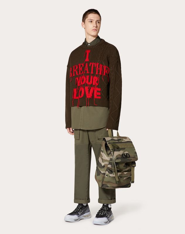 VALENTINO ON LOVE CREW-NECK JUMPER