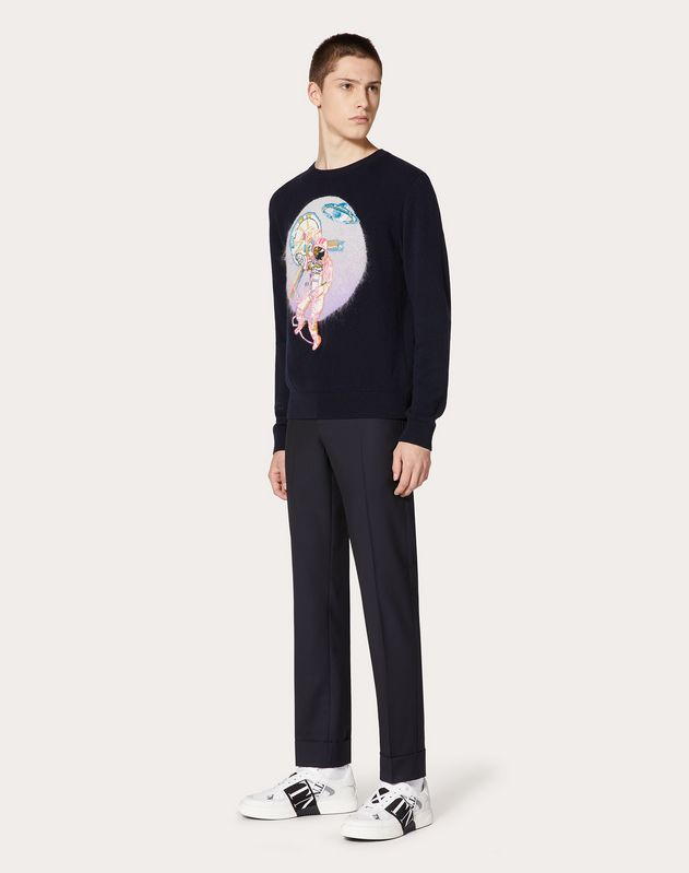 SPACELAND CREW-NECK JUMPER