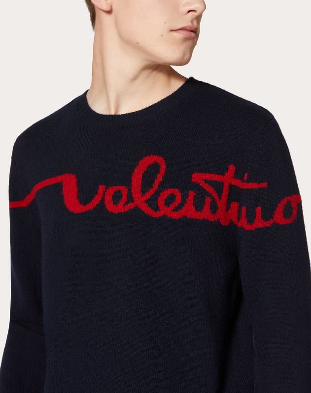 REDBROIDERY CREW-NECK SWEATER