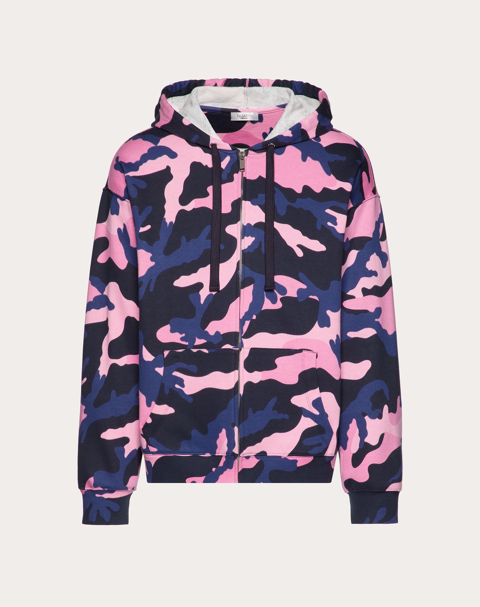 CAMOUFLAGE HOODED SWEATSHIRT WITH ZIP