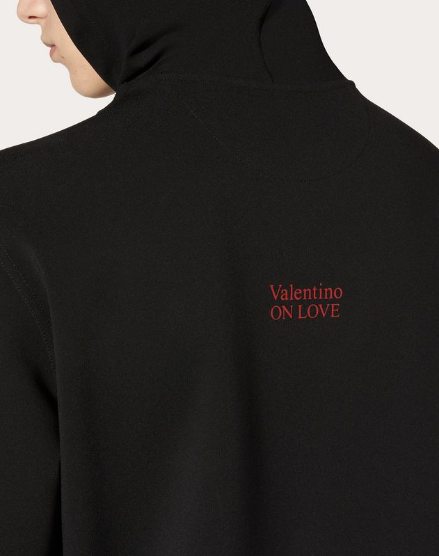 VALENTINO ON LOVE HOODED SWEATSHIRT