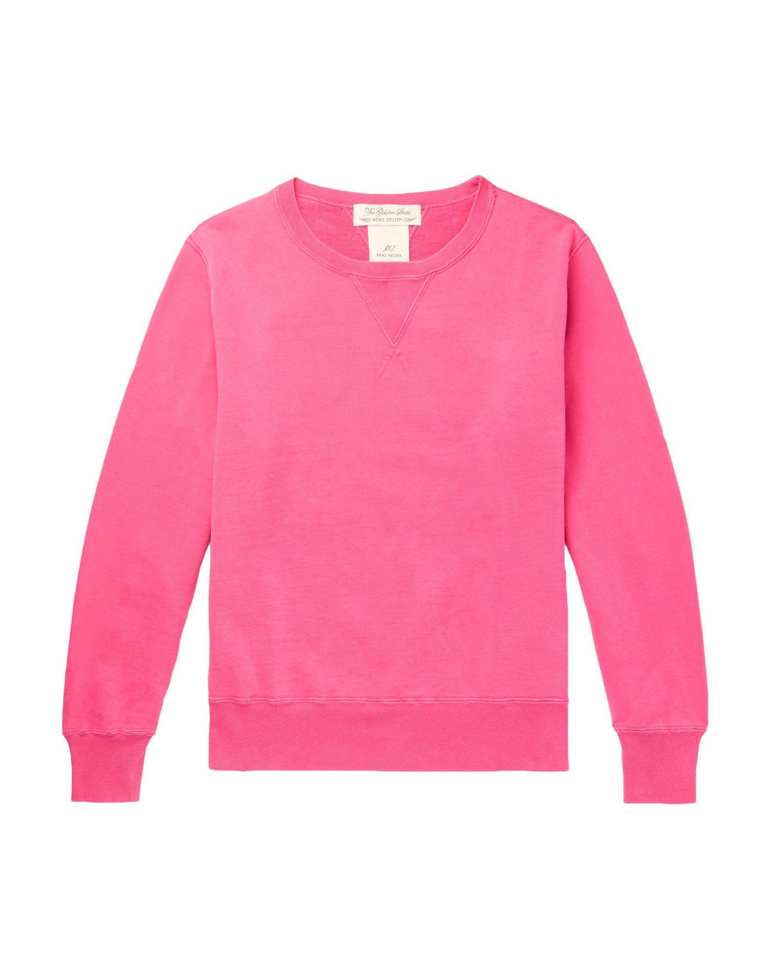 《セール開催中》REMI RELIEF メンズ スウェットシャツ フューシャ S コットン 100%