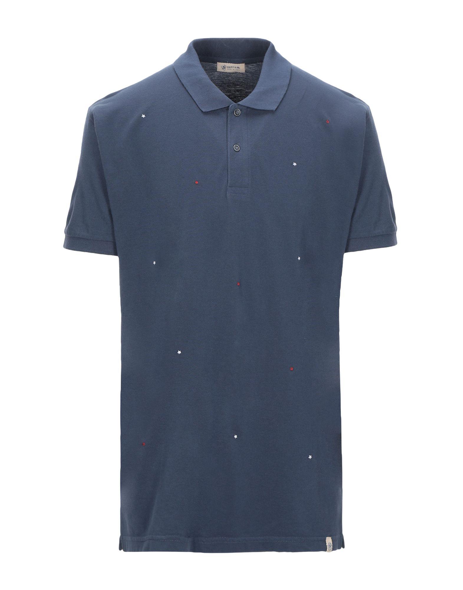 《期間限定セール開催中!》SUPPLIER DOPPIA P メンズ ポロシャツ ダークブルー M コットン 100%