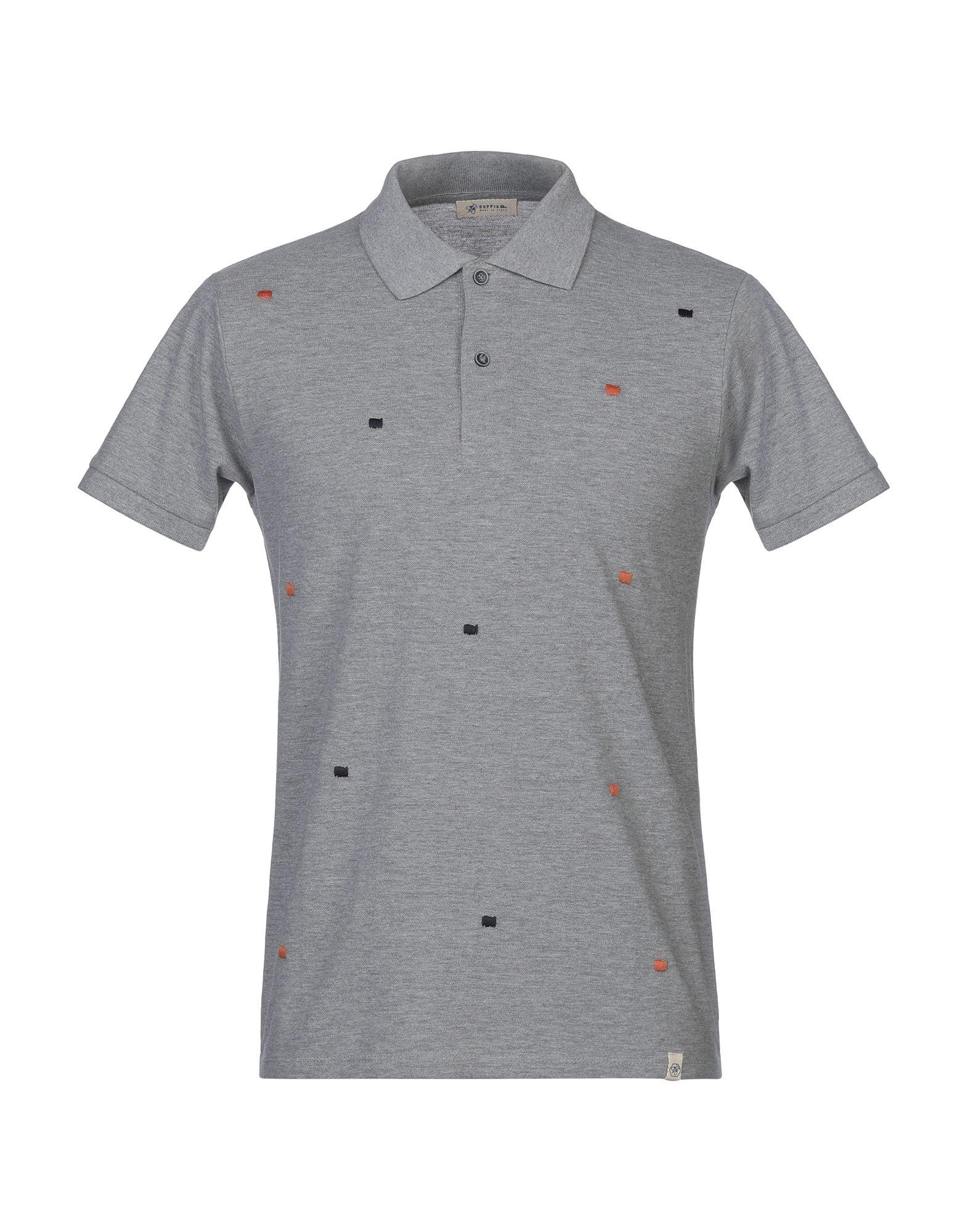 《期間限定セール開催中!》SUPPLIER DOPPIA P メンズ ポロシャツ グレー M コットン 100%